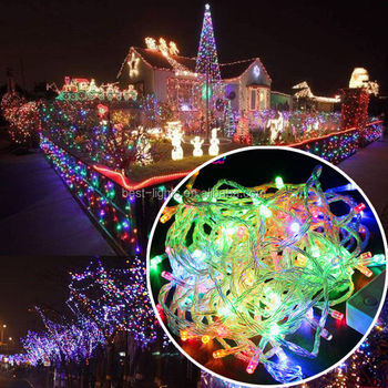 10m 100 led string lighting wedding fairy christmas lights outdoor twinkle christmas tree decoration outdoor led