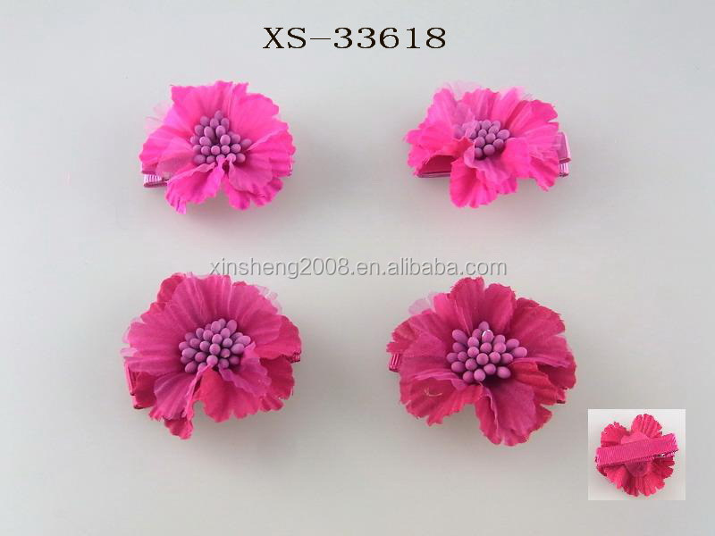 Flowers Artificial Hair Clips For Kids