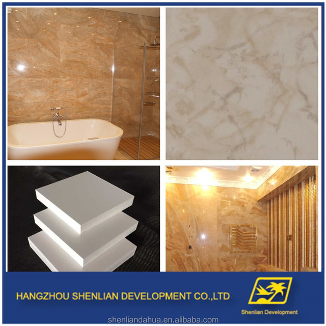 Exceptional Marble Surface UV Coating Decorative Wall Board Fiber Cement Board