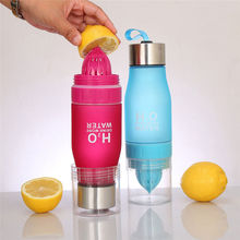 650ml Custom Color H2o Frosted Lemon Plastic Joyshaker Sport Water Bottle With Filter