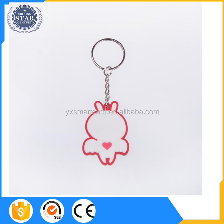 Customized Lettering soft pvc plastic key tags with custom logo
