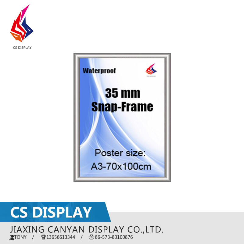 Waterproof 35mm aluminum poster snap frame
