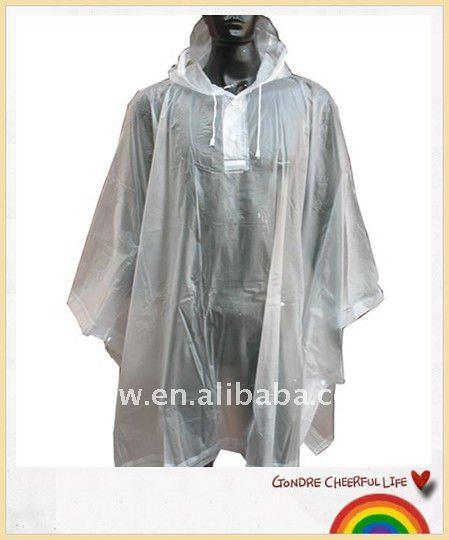 pvc ou eva effacer cape de pluie poncho imperm able id de. Black Bedroom Furniture Sets. Home Design Ideas
