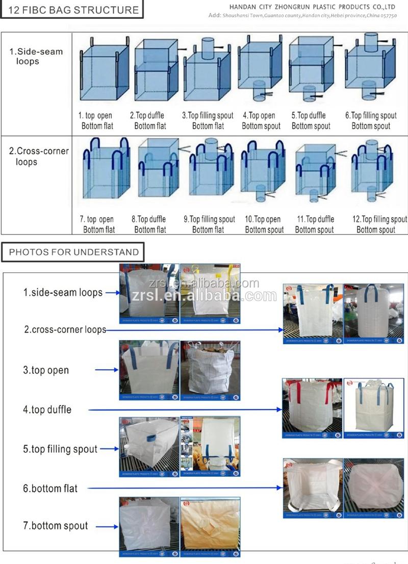 Big Bag Storage 1ton Fibc White Sugar Price Per Ton Bag Polypropylene  Baffled Bags (for Food Sugar Maize Cement Sand Stone,Etc ) - Buy Big Bag  Storage