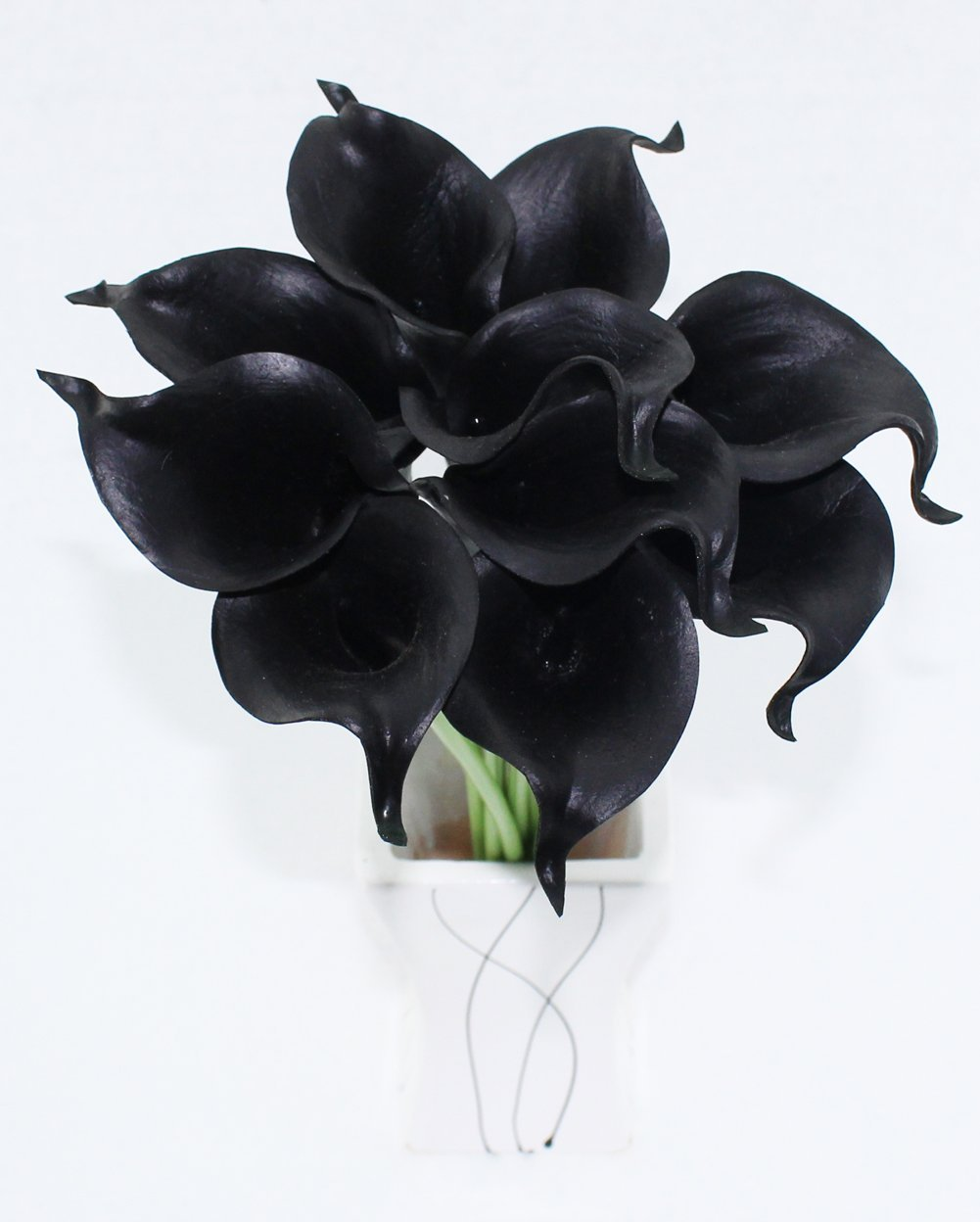 Cheap black lily vase find black lily vase deals on line at alibaba get quotations simpleyourstyle calla lily artificial flower 10pcs no vase bridal wedding bouquet 10 head latex real touch izmirmasajfo