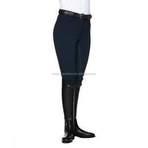 Leather seat riding breeches