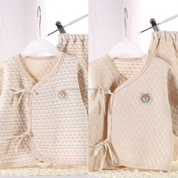 Spring& autumn knitted infant romper baby clothes polo GB008
