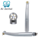 dentist tools high speed handpiece 5 LED standard Push Button head with 2 hole / 4 holes