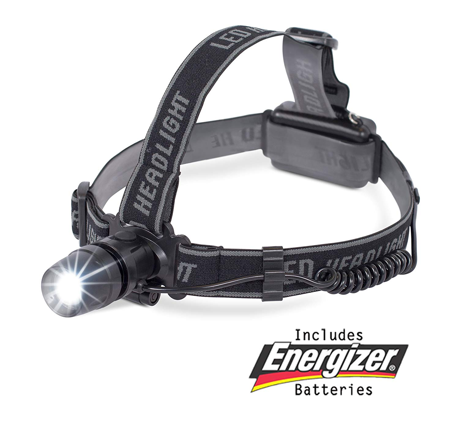 Internet's Best LED Headlight with Wide Range | 2 Modes Headlamp | Lightweight | Battery Powered Helmet Light for Hiking Camping Running Reading | 3 AAA Batteries Included