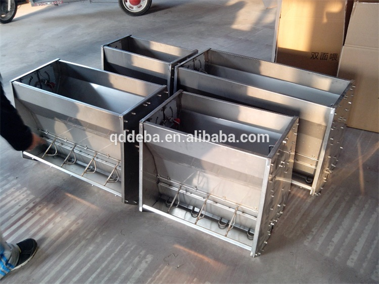 Deba Brother Dry and Wet Stainless Steel Double Side Feeder 8 Holes for fatten pigs
