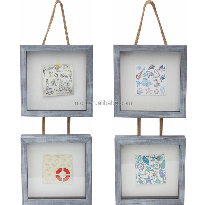 INTCO fabric photo frame sets 3d shadow box frame