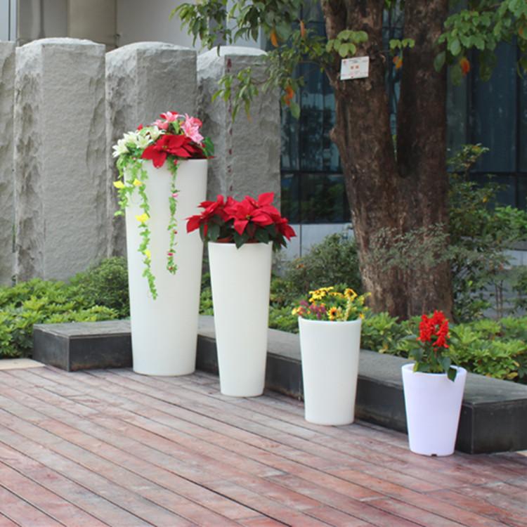 rotomolded plastic planter flower pot,led out door pot light 110v