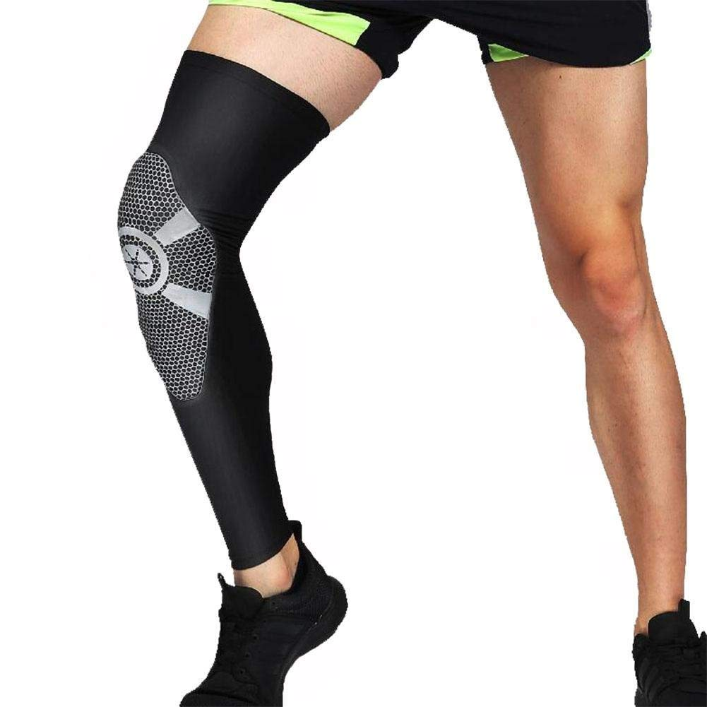 5344a65815 Get Quotations · FJY Compression Pad Basketball Knee Sleeve Honeycomb Brace  Long Leg Pads Kneepads Crashproof Knee Sleeves For