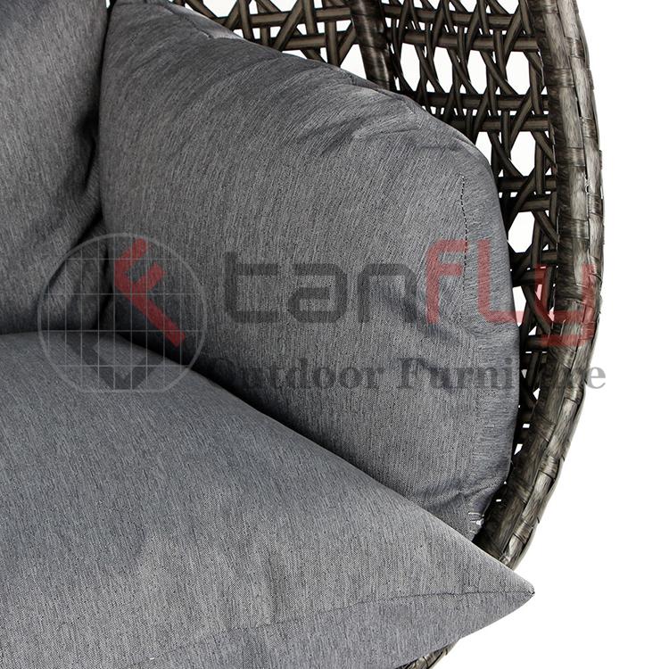 Venta superior Silla colgante de lujo Silla giratoria para patio Muebles de jardín al aire libre