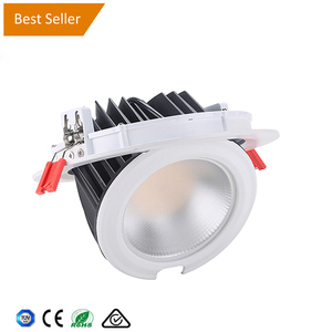 big cutout hole 205~230mm led downlight gimbal 50w led adjustable downlight