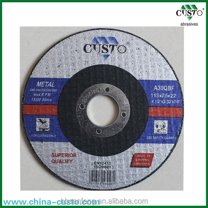 "4 1/2"" 115mm Cutting Wheel for metal in Abrasives of China Factory"
