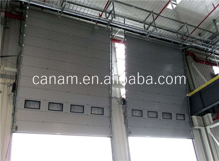 industrial door and sectional garage door, vertical/standard/high lifting, 50mm/40mm thickness insualted door panel