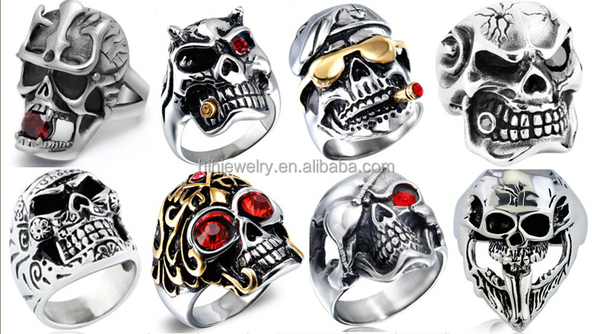 menu0027s stainless steel rings jewelry with skull design ring