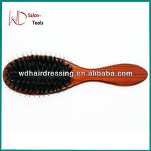 High Quality Wood Handle Natural Boar Bristle Hair Brush Fluffy Comb Hairdressing Barber Tool
