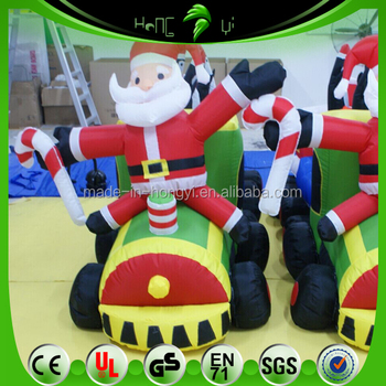 inflatable christmas decorations christmas inflatable cartoon train father christmas for event