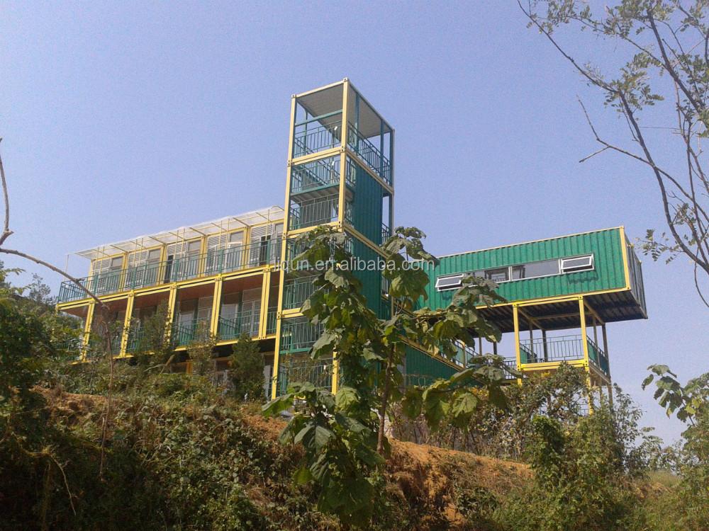 Luxe en acier pr fabriqu villa mer maison conteneur Immeuble container