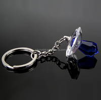 Crystal Clear blue Pacifier Keychain Baby Party Favor MH-D0400