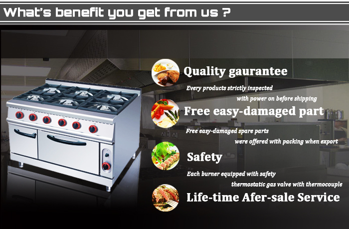 Free Standing 6 Burners Gas Cooker Oven Gas Cooker With