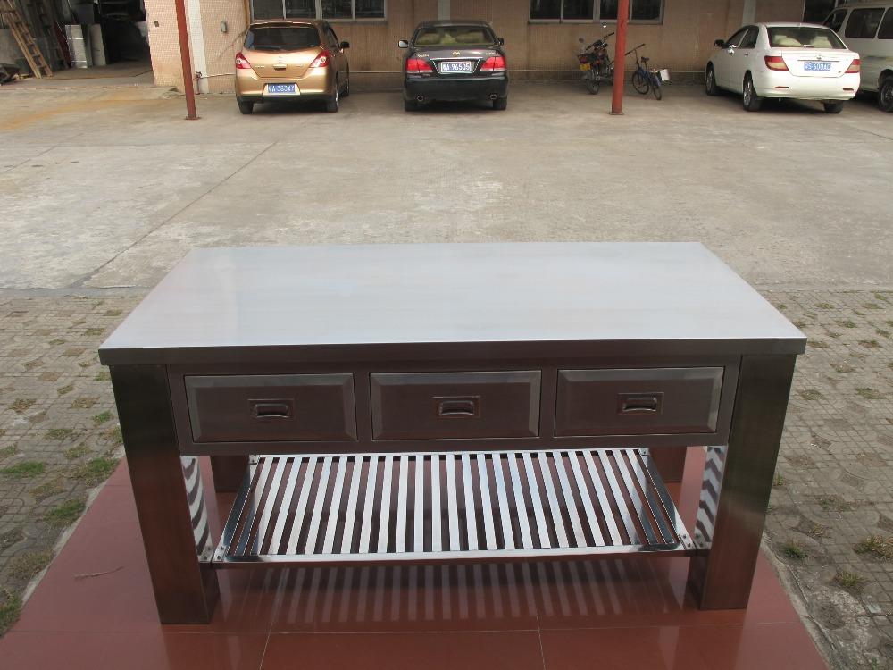 Tavoli Da Lavoro Usati Acciaio : Tavolo da lavoro con cassetti cucina lavello in acciaio inox tavolo