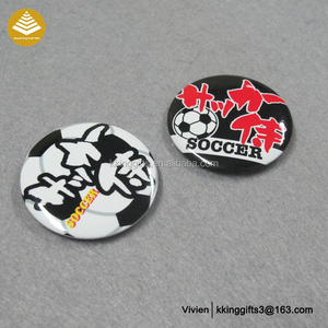 Cheap price good selling football club decorative name fancy badges pin badge