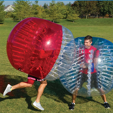 Hot sale and CE certificate PVC/TPU LED bubble soccer bumper ball