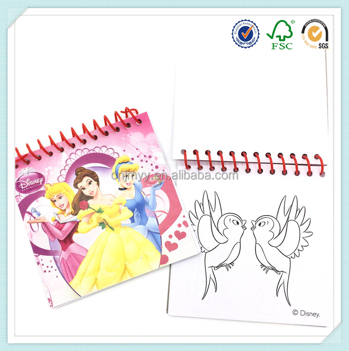 cartoon pattern paper cover single pp spiral drawing books for kids - Drawing Books For Kids