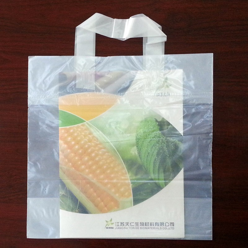 100% biodegradable hand handle bags