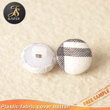 White plastic button for metal parts with shank button garment accessories