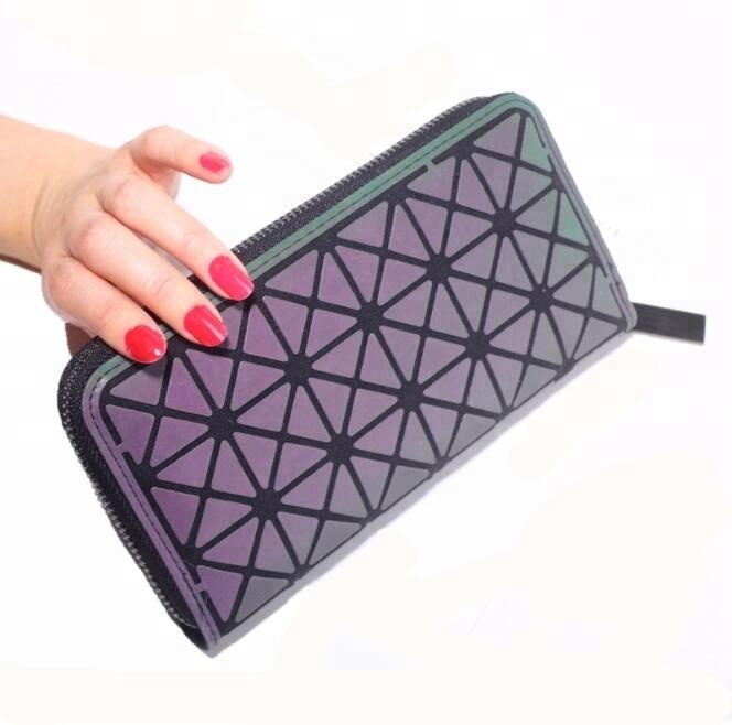 New Long Solid Luxury plaid Women <strong>Wallets</strong> Fashion Glow in dark Women <strong>Wallet</strong> Coin Purse