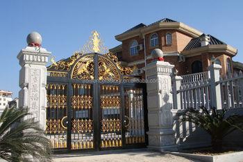 2016 Latest Decorative Wrought Iron Gate/house Main Steel Gate ...