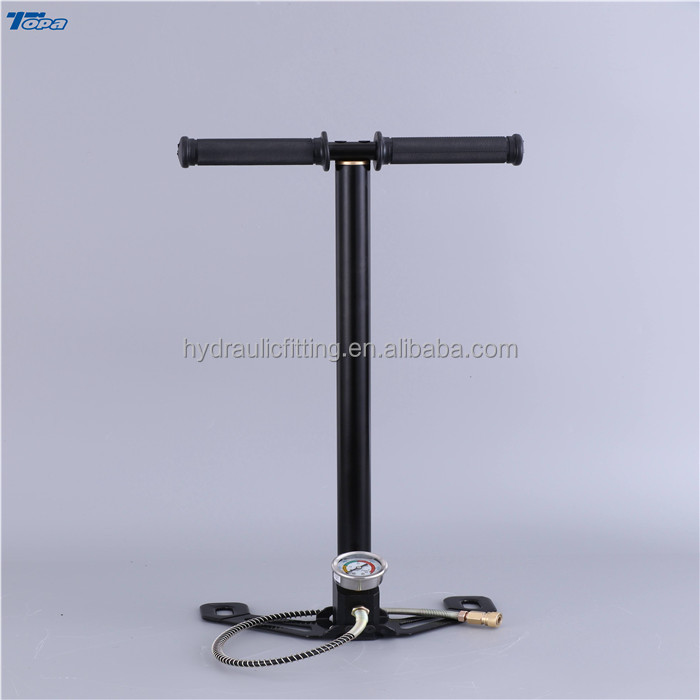 stainless steel 4500 psi high pressure mini tire bicycle hand pump