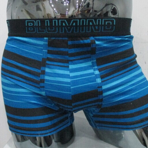 Sexy bamboo boxer hipster stripe printed customized for men
