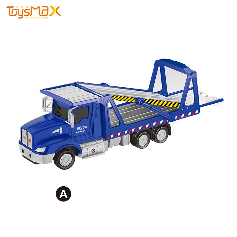 2019 New US 1:46 Scale  Popular Pull Back Metal Transportation Truck Toys Battery operated Die Cast Model Truck