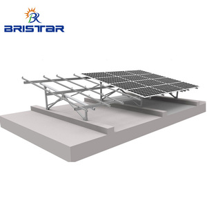 Pv Ground Steel Support Brackets Aluminium Solar Panel Mounting Structures