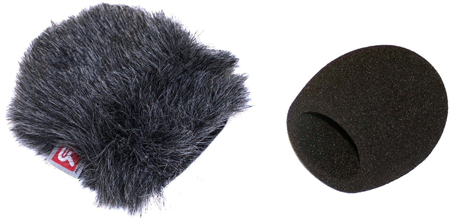 Rycote Mini Windjammer with Foam Windscreen for Zoom H1 Digital Recorder