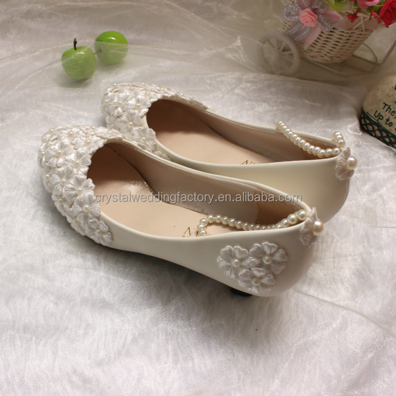 3CM 4 11CM 40 Pearls MS934 Toes Wedding Pointed Ribbons Ladies With 5CM Up 8 Party Shoes Dress Size Lace Women Lace 5CM EU34 zOxC8w18q