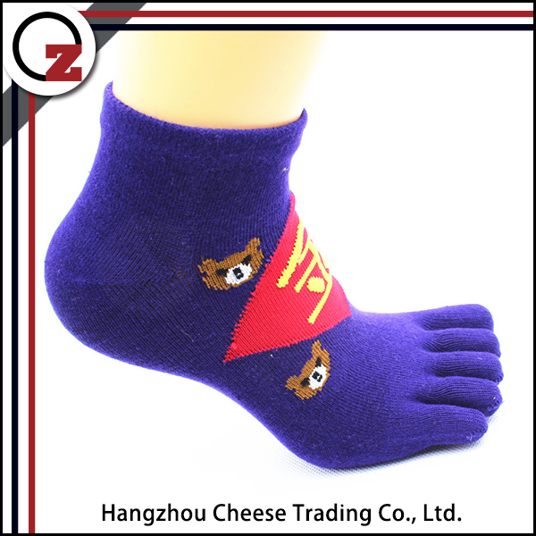 Wholesale Custom Print Teen Young Girls Tube Five Toe Sock - Buy Custom Print Socks -1237