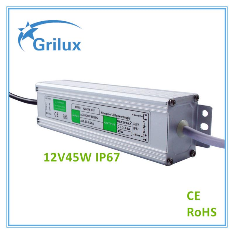 Factory Competitive Price 12v led driver led transformer lambda power <strong>supply</strong> for led module 12V45W IP67