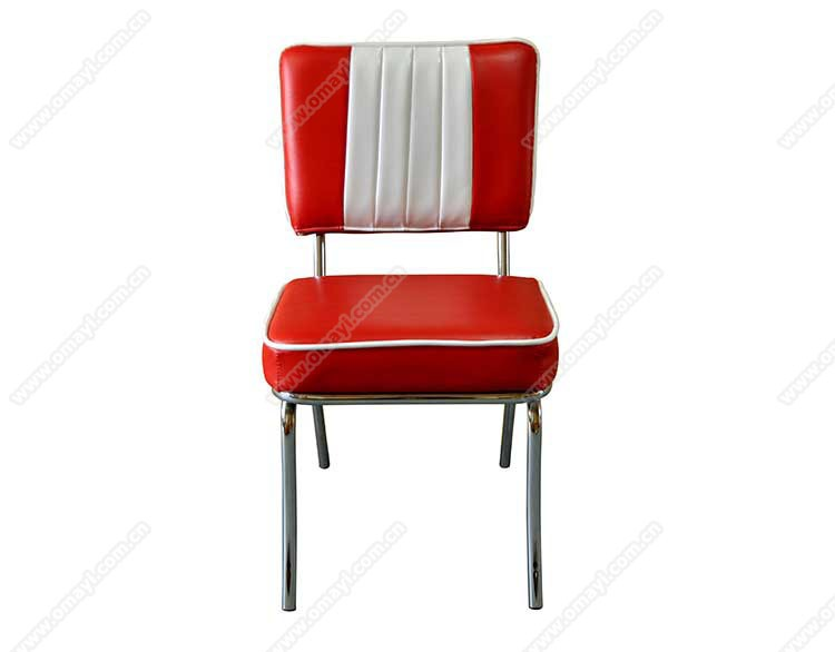 Retro 1950s Diner Chair,metal Frame With Leather Retro Diner 1950s Chair  Furniture
