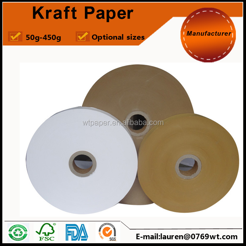 80gsm brown kraft paper for paper bags sealing strip