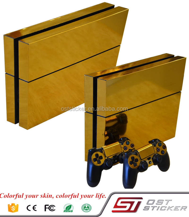 Gold Chrome Brand New Console Skin For PS4 Skin Sticker
