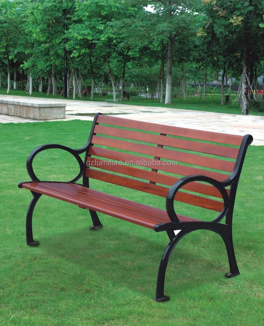 Park Bench Parts Suppliers: Outdoor Solid Wood Furniture Park Bench Parts Long Wooden