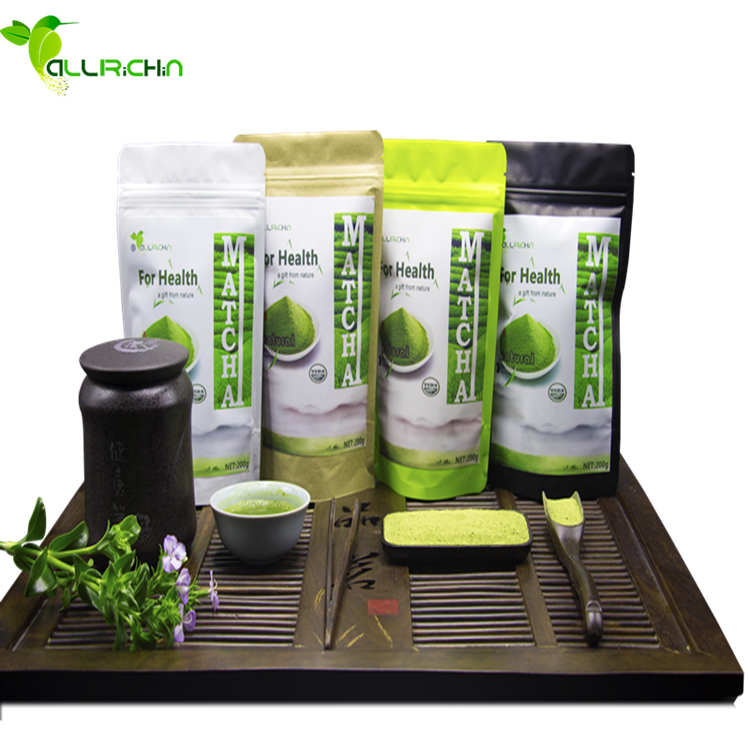 Natural Private label Pure Organic Matcha Green Tea <strong>Powder</strong> For Energy Drink