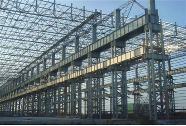 Best sale galvanized long span workshop steel roof construction structures