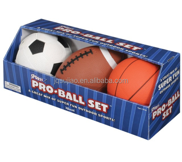 3pk sport ball-3PK quality set of American football soccer ball basketball